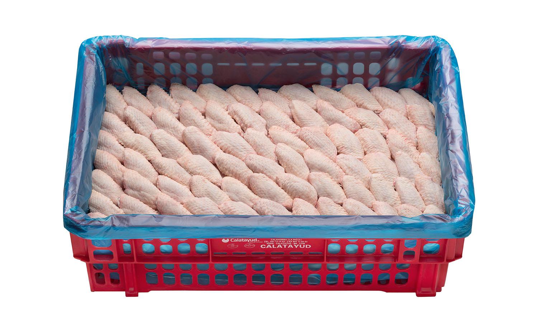 Alón de pollo caja de 10 kg granel