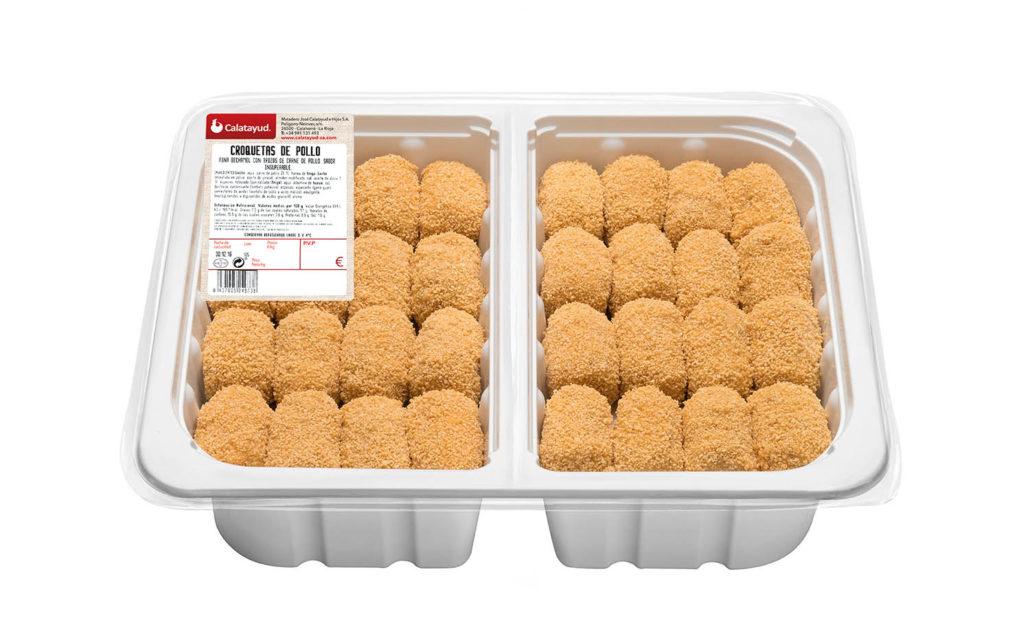 Croquetas de pollo bandeja bipack 2 kg