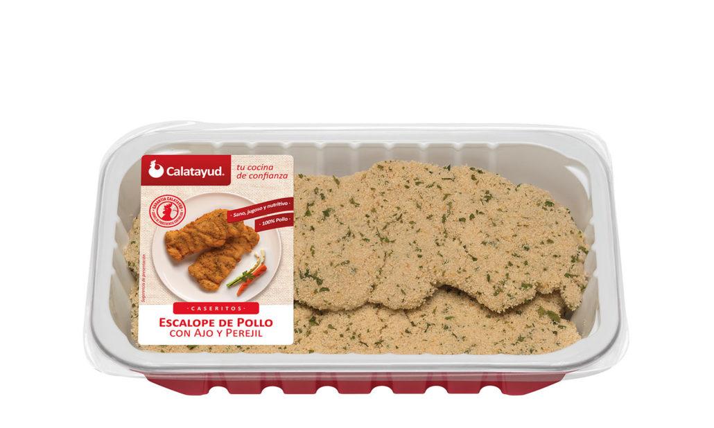 Escalopes de pollo con ajo y perejil bandeja PLS