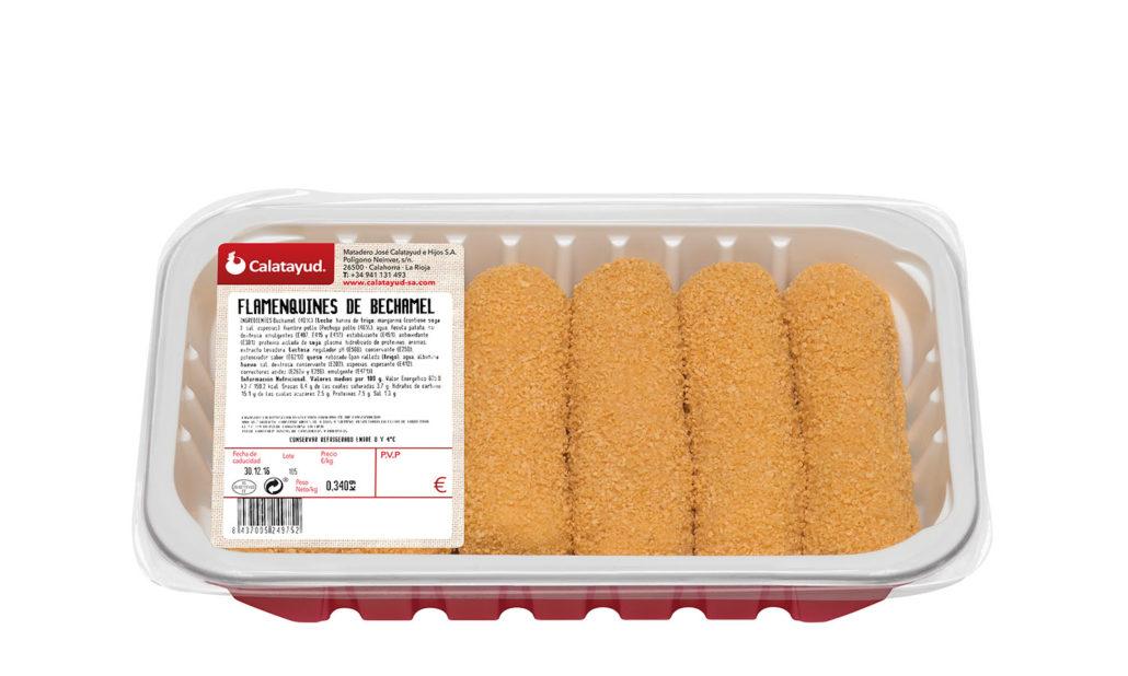 Flamenquines de queso y bechamel bandeja PLS