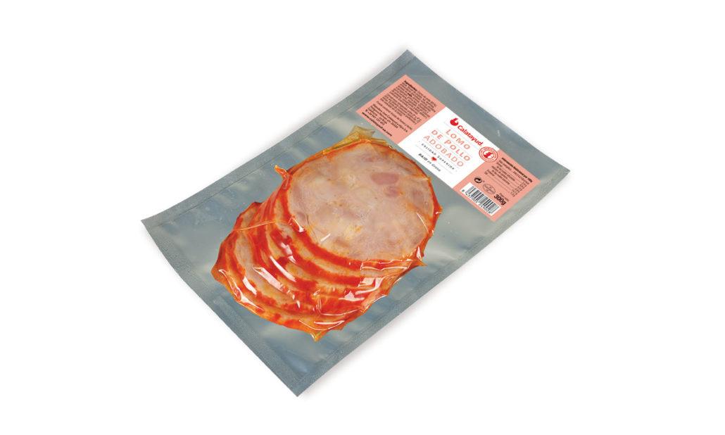Lomo de pollo adobado loncheado 300 gr