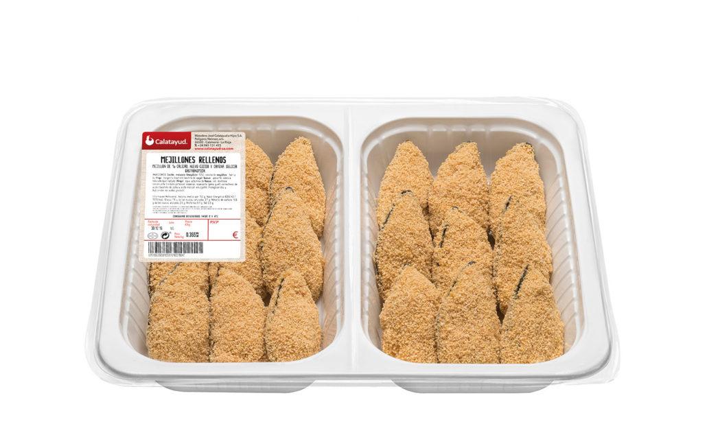 Mejillón relleno bandeja bipack 1 kg