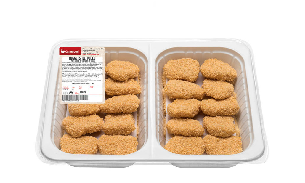 Nuggets de pollo bandeja bipack 1.200 kg