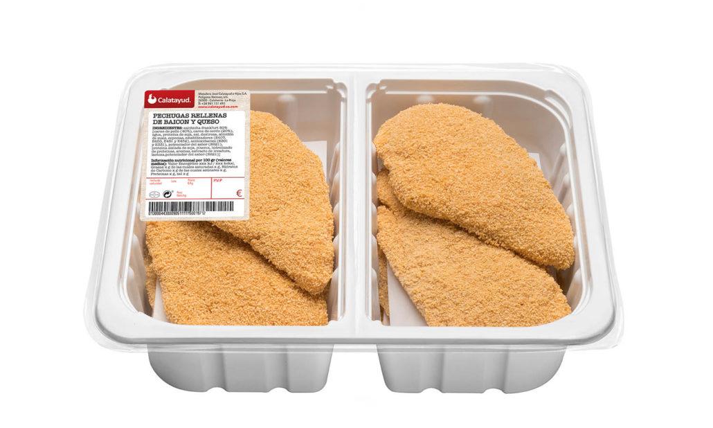 Pechuga de jamón y baicon bandeja bipack 2 kg