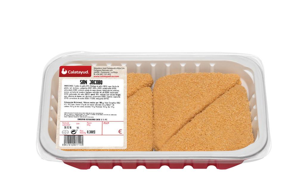 San Jacobo triangular de pollo bandeja PLS