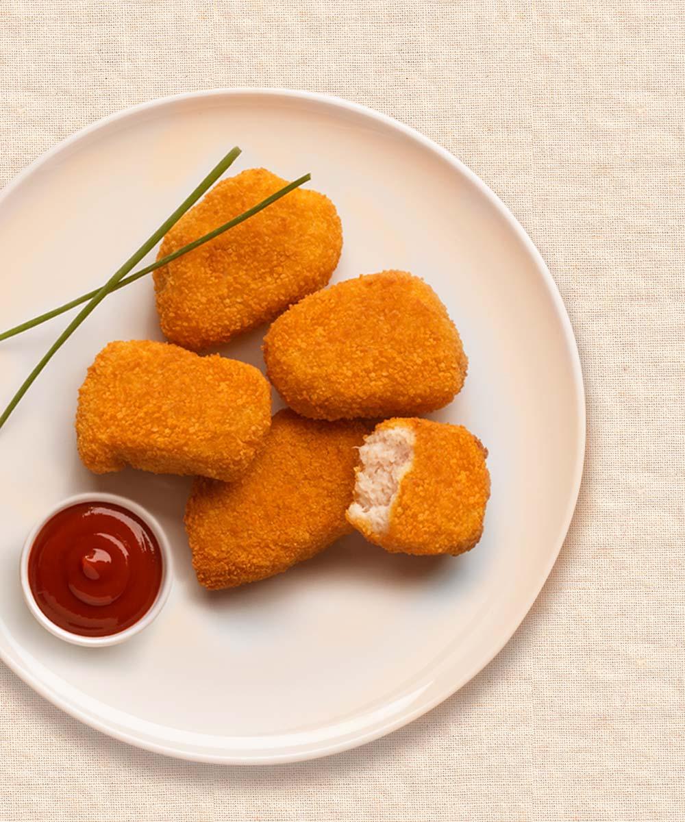 Nuggets de pollo con salsa barbacoa