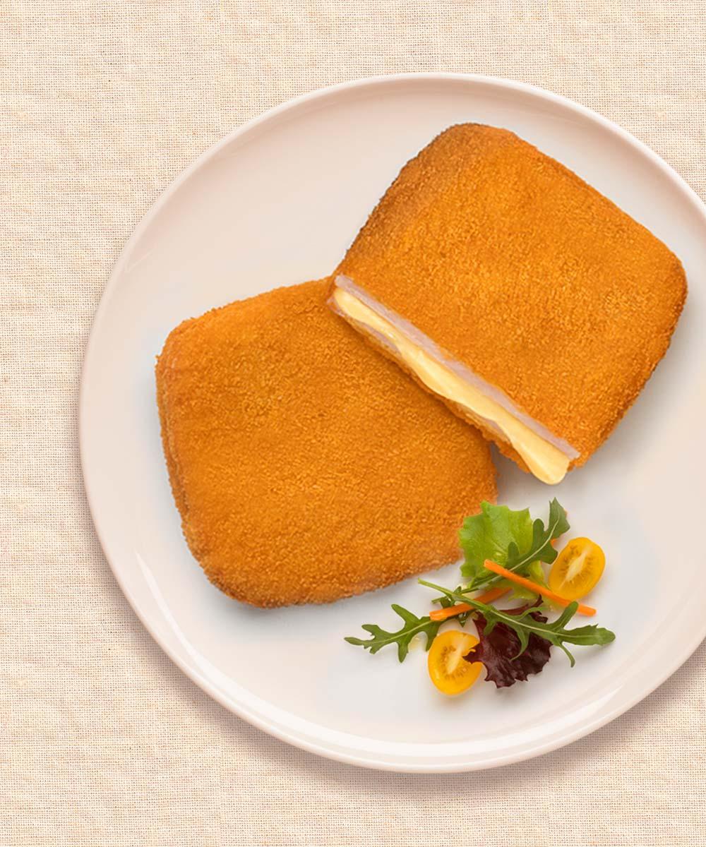 San Jacobo de pollo con verduras a la plancha