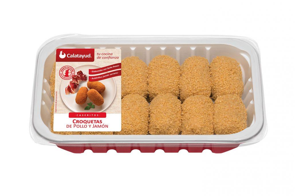 Croquetas de pollo y jamón bandeja PLS