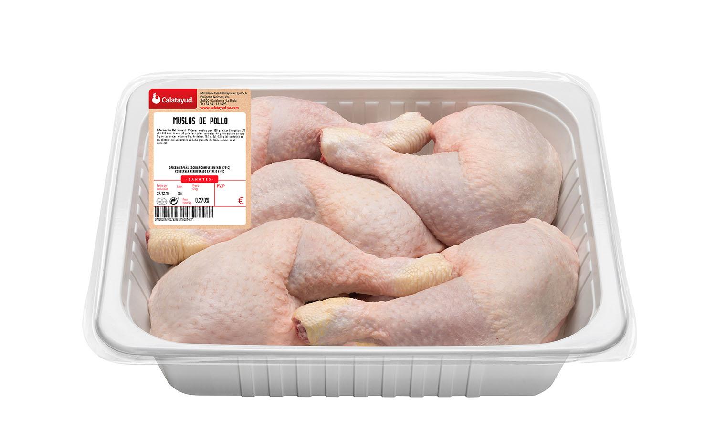 Muslos de pollo bandeja de 3 kg