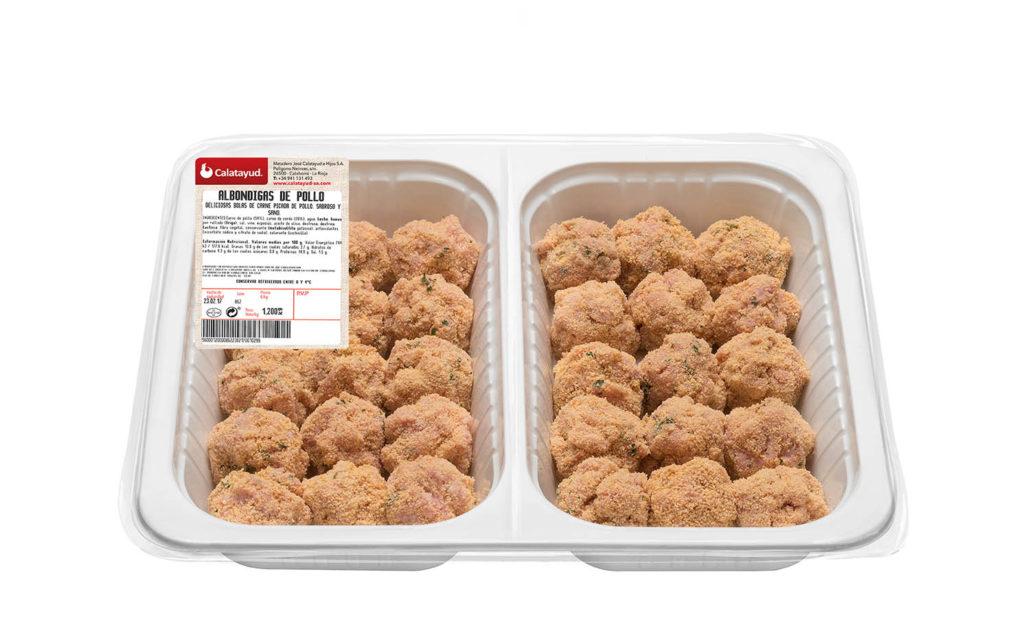 Albóndigas de pollo bandeja bipack 1.200 kg