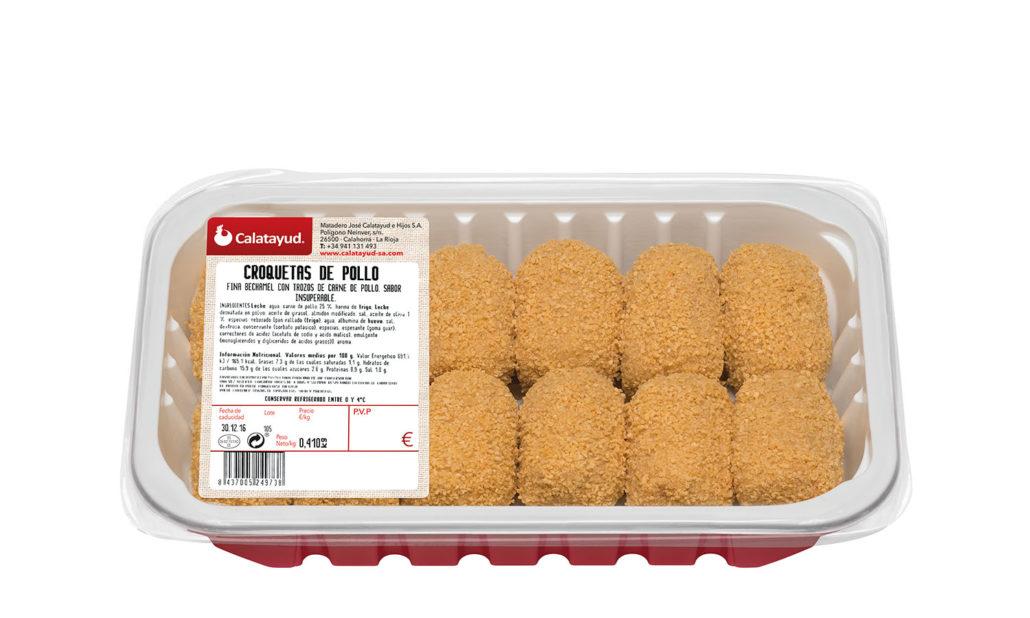 Croquetas de pollo bandeja PLS