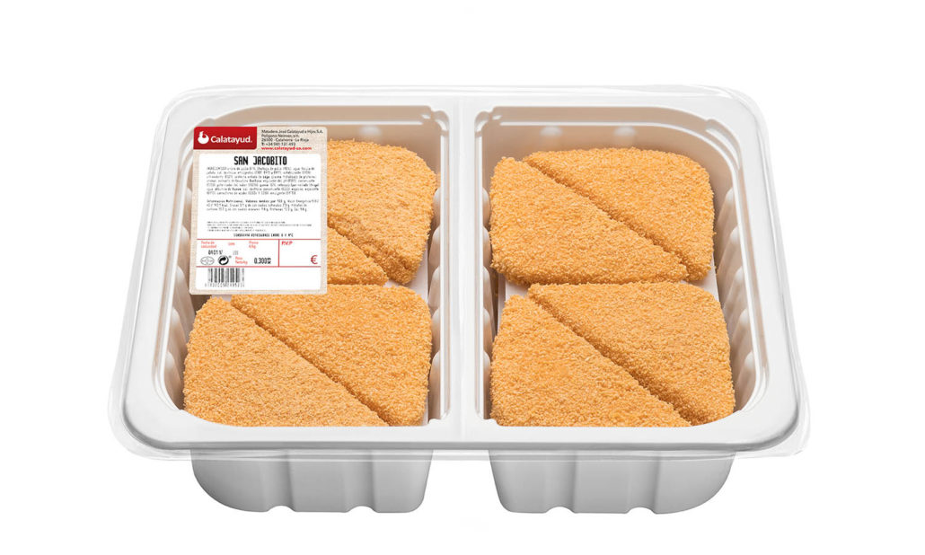 San Jacobito triangular de pollo bandeja bipack 2.150 kg